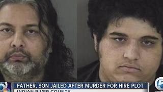 Father, son jailed after murder-for-hire plot - Video