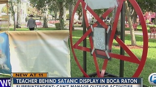 Middle school teacher responsible for Boca Raton Satanic pentagram - Video
