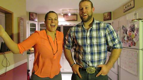 Wife tricks husband on camera with surprise pregnancy announcement