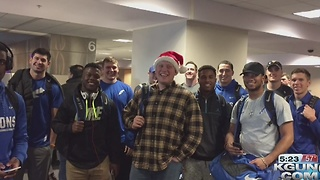 Air Force football lands in Tucson ahead of the Nova  Home Loans Arizona Bowl - Video