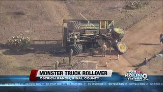 Deputies investigating rollover at ostrich ranch - Video