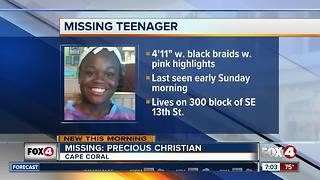 Cape Coral Police Search fro Missing Girl