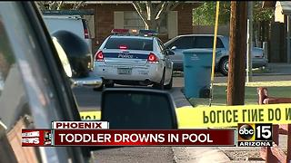Toddler dies after drowning in Phoenix pool