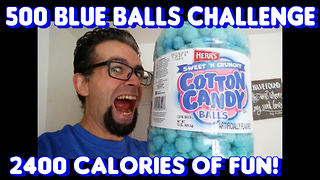 500 Blue Balls Challenge vs FreakEating - Video