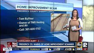 Home improvement scam warning in Frederick County - Video