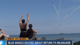 Blue Angels scope out Milwaukee ahead of summer show - Video