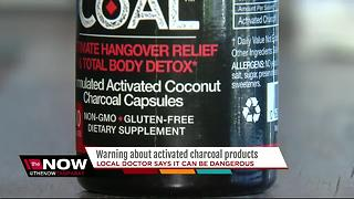 Warning about activated charcoal products - Video