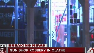 Thieves rip door off Olathe Gun Shop to steal numerous weapons - Video