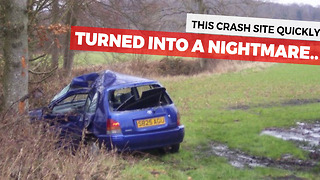 Car Crash Site Turns Into A Nightmare For Victim's Family