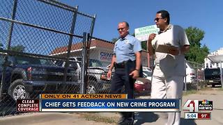 KCK chief gets feedback on anti-crime program - Video