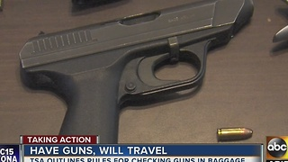 What security measures are in place for traveling with a gun?