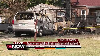 Transformer catching fire blamed for one of the numerous fires that hit Detroit overnight - Video