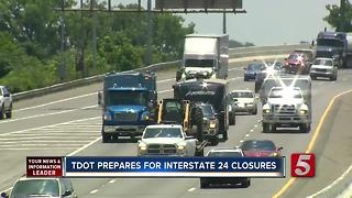 4 Weekend Closures Set For Interstate 24 Bridge Project - Video