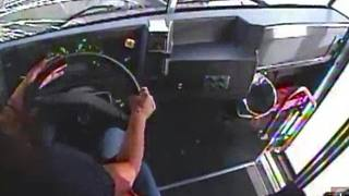 Video from inside the bus vs. semi-truck crash