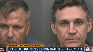 Unlicensed contractors accused of stealing $150,000 from 82-year-old woman - Video