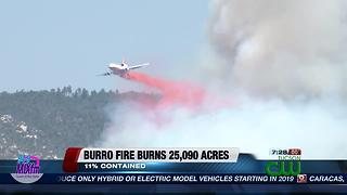 Burro Fire burns over 25,000 acres