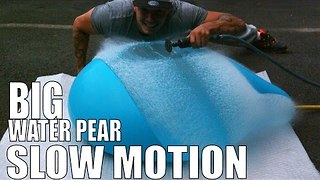 Massive Water Balloon Explodes in Super Slow Motion