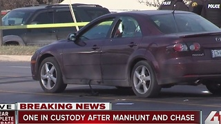 1 in custody after Blue Springs manhunt & chase - Video