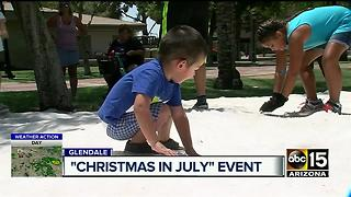 Snow a big hit at Glendale's Christmas in July event - Video