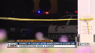 Man barricades himself inside Cosmopolitan parking garage - Video
