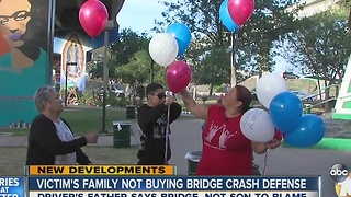 Victim's family doesn't buy bridge crash defense