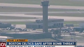 Boston Celtics' flight arrives in Oklahoma after bomb scare - Video