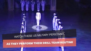18 Sailors Stand Like Statues. But Keep Your Eyes On The One In The Middle. He Steals The Show! - Video