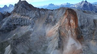 Video Shows Massive Rockfall In Dolomites - Video
