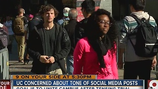UC concerned about tone of social media posts - Video