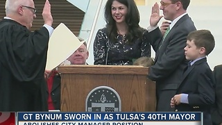 G.T. Bynum sworn in as Mayor of Tulsa - Video