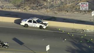 Officer involved crash on I-15, Craig Road - Video