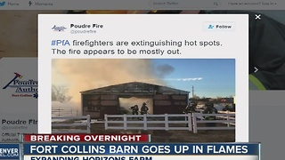 Fort Collins barn fire - Video