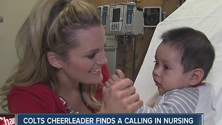 Colts cheerleader finds calling in nursing - Video