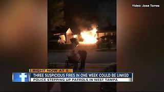 West Tampa arsons have neighbors on alert - Video