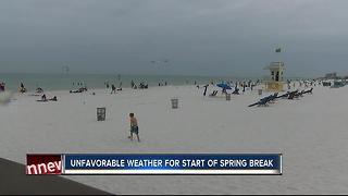 Spring Break weather off to a cruddy start - Video