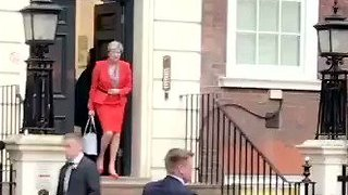 May Asked 'Are You Resigning, Prime Minister?' As She Leaves Conservative Party HQ - Video