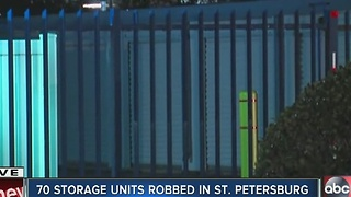 70 storage units robbed in St. Pete - Video