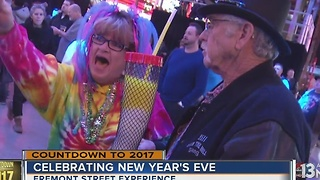 New Year's Eve celebrations on Fremont Street - Video