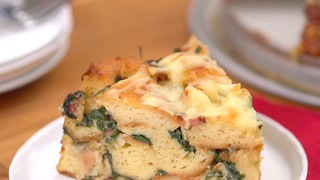 Bacon Spinach Strata - Video