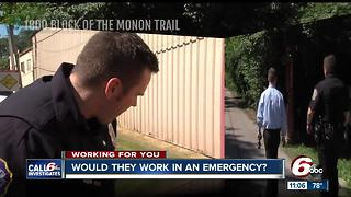 Do the emergency boxes on the Monon trail work? - Video