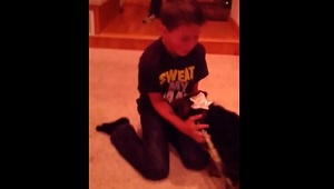 Emotional birthday puppy surprise for 12-year-old - Video
