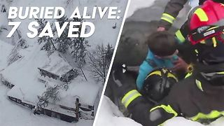 Amazing moment 7 survivors are rescued from avalanche - Video