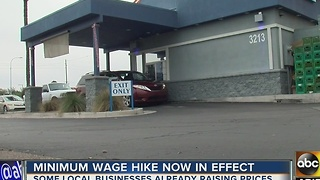 Arizonans already feeling effects of minimum wage hike - Video