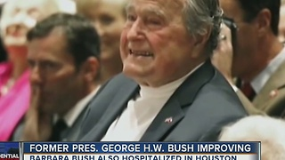 Former President George HW Bush improving
