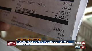 water bill jumps to $4,000 - Video