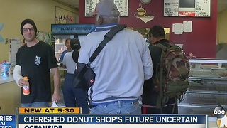 Future uncertain for cherished donut shop in Oceanside - Video