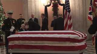 Thousands Pay Respects to Astronaut John Glenn - Video