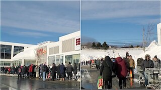 St John's Residents Form Long Lines as Grocery Stores Reopen After Storm