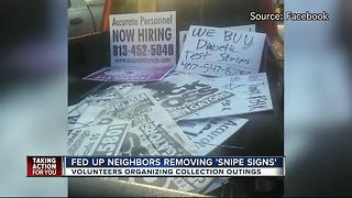 Signs blight West Tampa community, say residents - Video