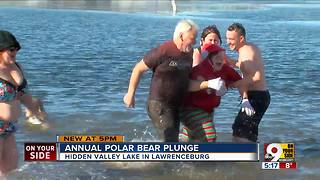 Polar Bear Plunge returns to Hidden Valley Lake - Video